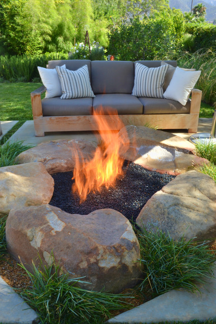 outdoor propane fire pit Patio Contemporary with backyard fire pit fire