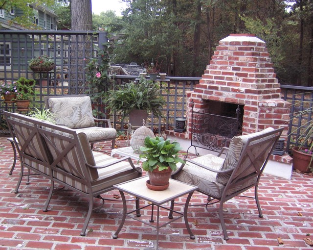 Outdoor Propane Fireplace Patio Traditional with Aged Brick Amazing Outdoor