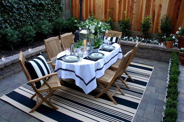 outdoor-rugs-target-Patio-Traditional-with-black-and-white-brick ...