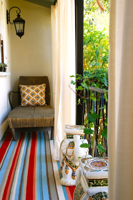 outdoor rugs target Porch Eclectic with area rug bold colors