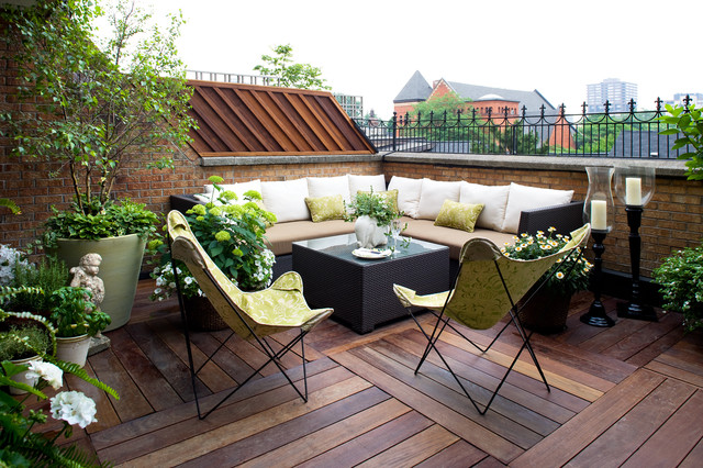 Outdoor Sectional Clearance Deck Contemporary with Balcony Brick Brick Railing