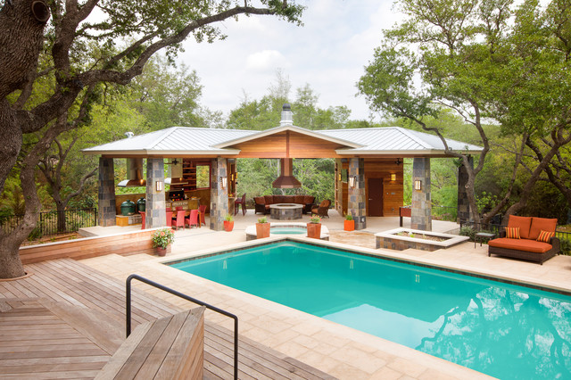 Outdoor Sectional Clearance Pool Contemporary with Covered Patio Deck Decking