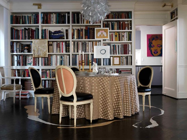 Oval Tablecloths Dining Room Transitional with Art Art Light Books