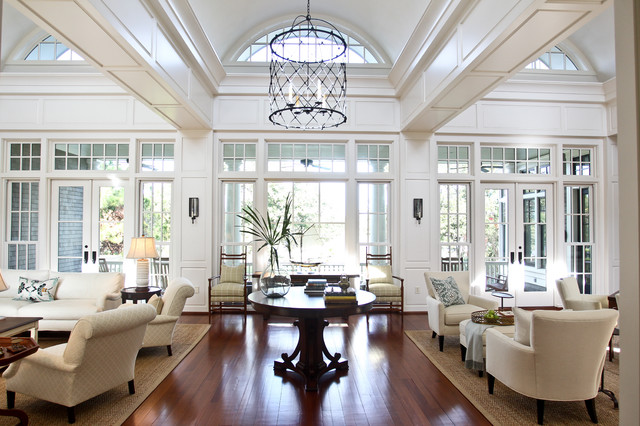 Oversized King Comforters Living Room Traditional with Arch Windows Birdcage Chandelier