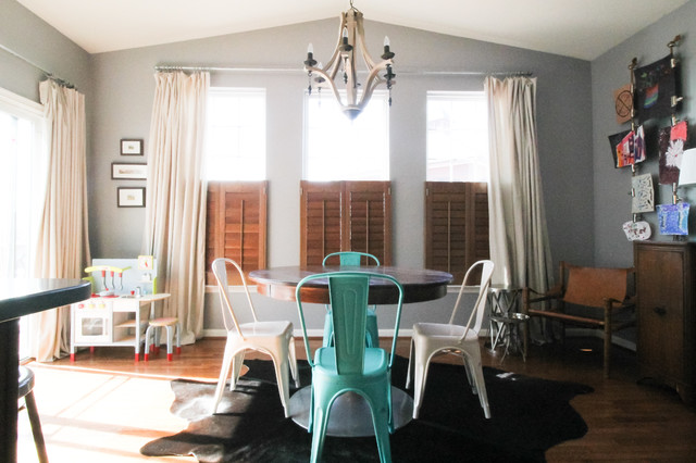 Painters Drop Cloth Dining Room Eclectic with My Houzz