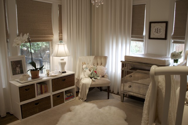 Pali Cribs Nursery Traditional with Area Rug Bookcase Bookshelves