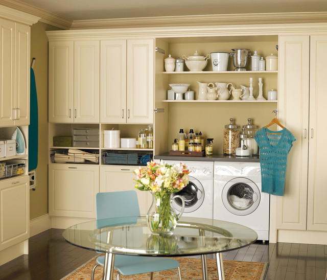 Panasonic Canister Vacuum Laundry Room with Blue Chair Custom Laundry