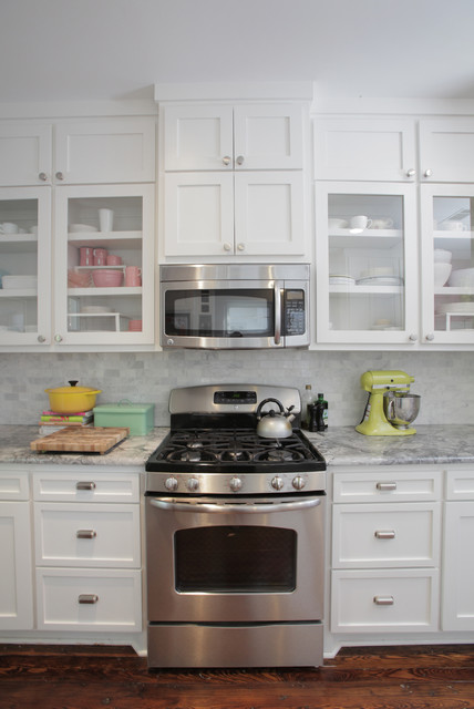 Panasonic Microwave Parts Kitchen Eclectic with Backsplash Glass Cabinet Doors