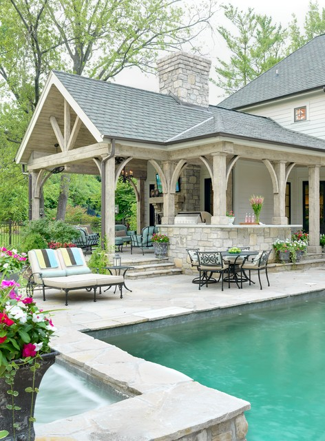 Patio Loveseat Patio Traditional with Brick Brick Chimney Covered1