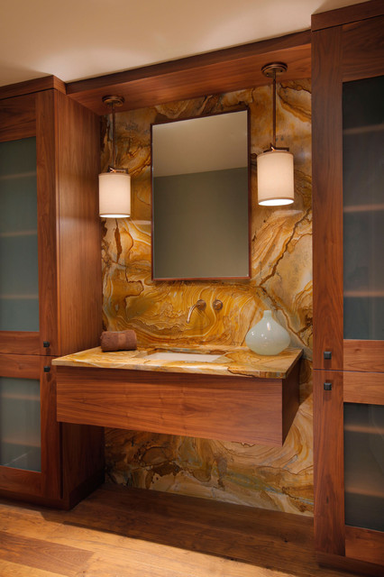 Penlight Bathroom Contemporary with Built in Cabinets Custom