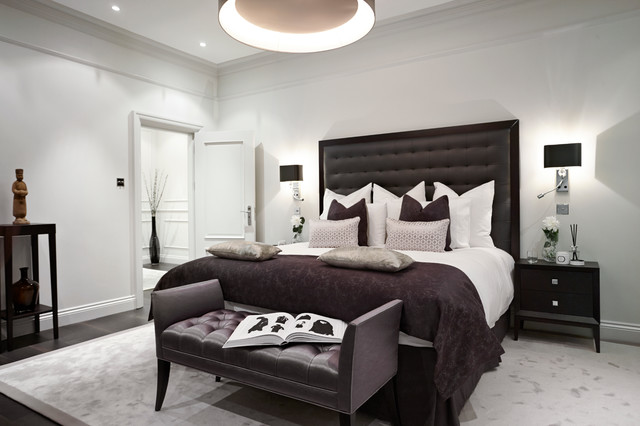 Penlight Bedroom Contemporary with Bed End Bedroom Bedside