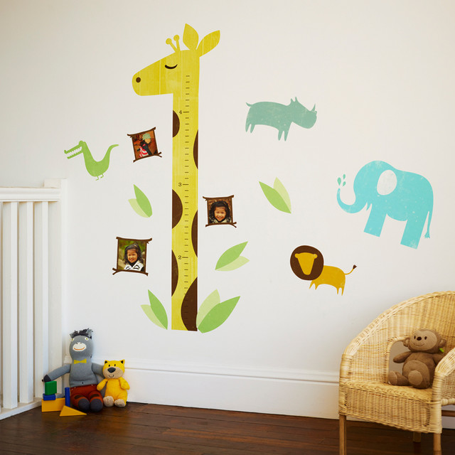 Personalized Growth Chart Kids Contemporary with Animals Growth Chart Home
