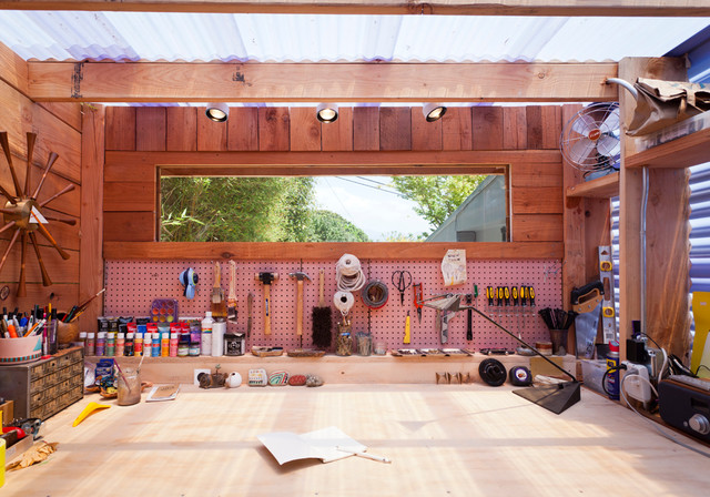 Plastic Pegboard Garage and Shed Contemporary with Categorygarage and Shedstylecontemporarylocationsanta Barbara