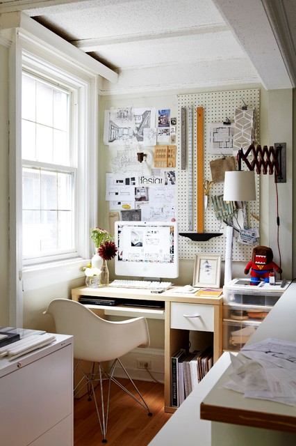 Plastic Pegboard Home Office Eclectic with Architect Bulletin Board Covet