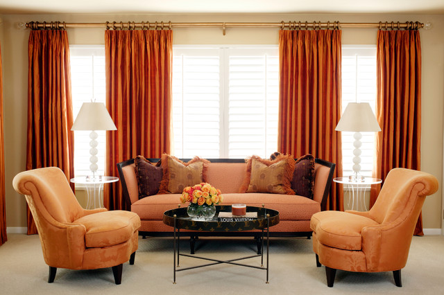 pleated drapes Bedroom Contemporary with curtains decorative pillows drapes