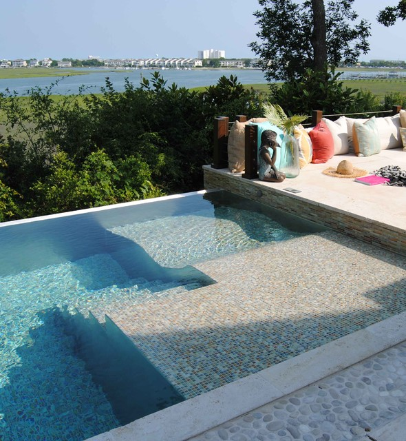 Pool Lounger Pool Contemporary with Coast Infinity Edge Infinity