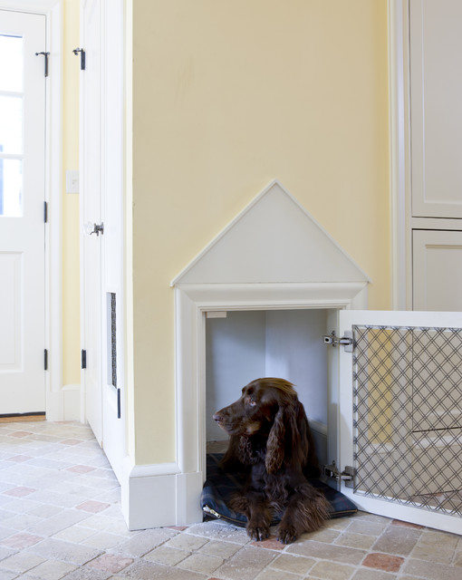 portable dog crates Entry Traditional with Brick Floors dog dog