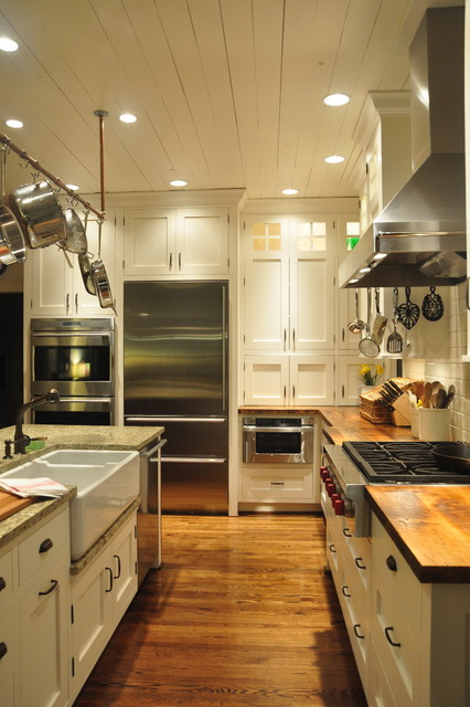 Propane Cooktop Kitchen Farmhouse with Butcher Block Top Cup