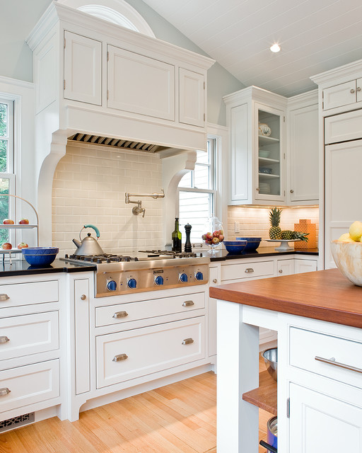 Propane Cooktop Kitchen Traditional with Glass Front Cabinets Kitchen