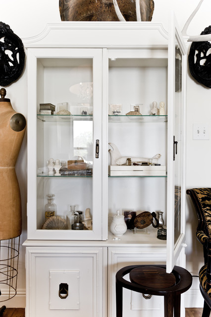 Pulaski Curio Cabinet Bedroom Eclectic with Armoire Black and White