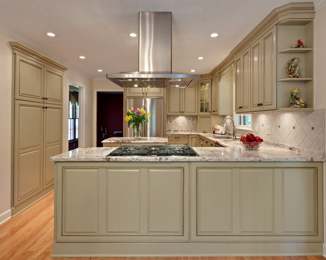 Pulaski Curio Cabinet Kitchen Traditional with Appliance Garage Baseboards Ceiling