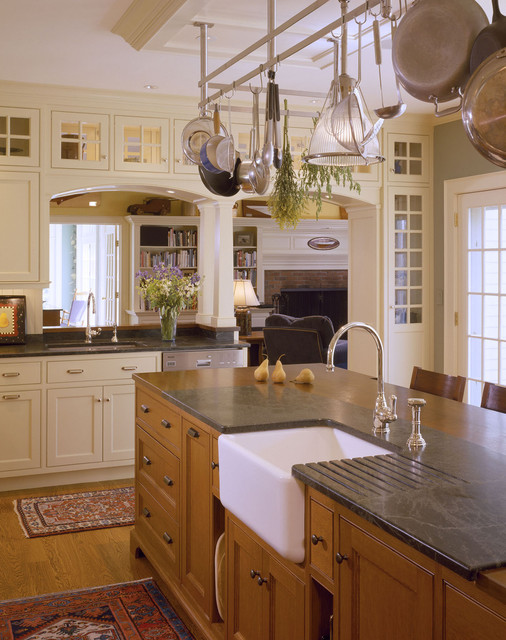 Pulaski Curio Cabinet Kitchen Traditional with Apron Sink Archway Area