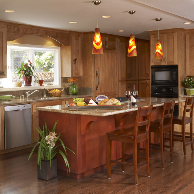 R20 Bulb Kitchen Contemporary with Appliances Arch Bar Stools