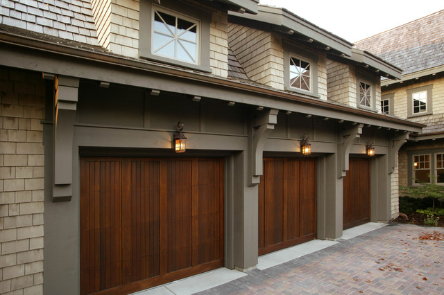 Raynor Garage Door Garage and Shed Traditional with Brackets Carriage Doors Cedar
