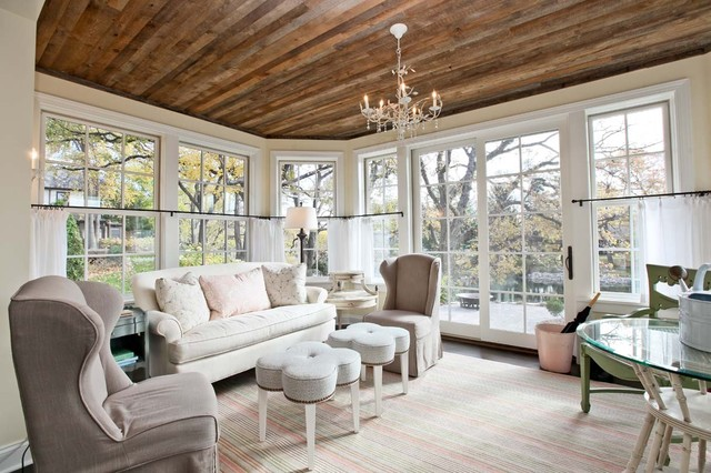 Reclaimed Wood Nyc Living Room Traditional with Area Rug Chandelier Curtains