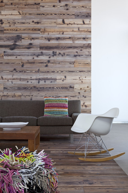 Reclaimed Wood San Diego Living Room Modern with Duchateau Salvage Wood Weathered