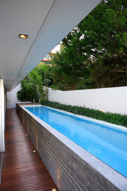 rectangle above ground pool Pool Modern with above ground pool bamboo