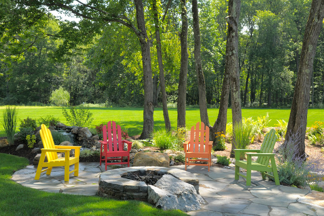 recycled plastic adirondack chairs Patio Traditional with Adirondack chairs colorful fire