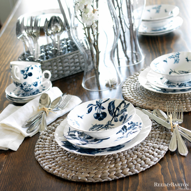 reed and barton flatware Dining Room Beach with bowls flatware indoor table