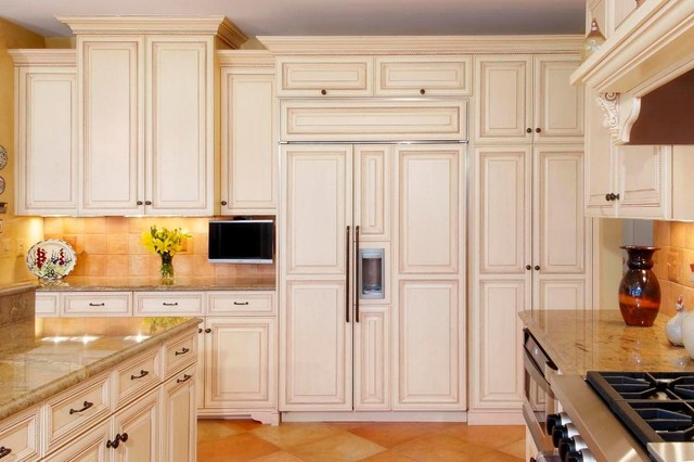 Refrigerators at Lowes Kitchen Traditional with Appliance Panels Cabinet Front