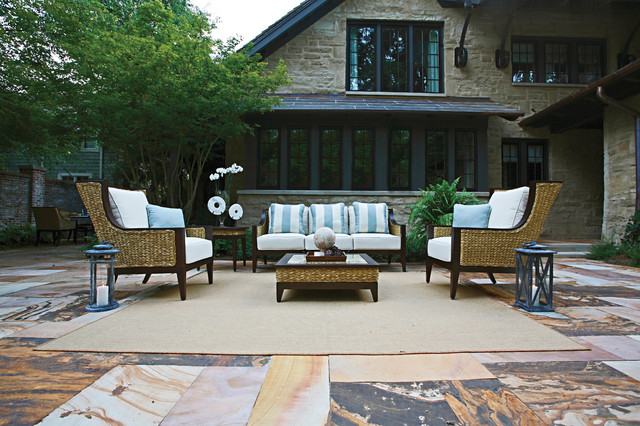 Resin Wicker Patio Eclectic with Coffee Table End Table