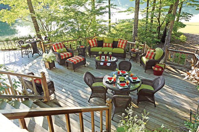 resin wicker Patio Traditional with arm chair bar stools