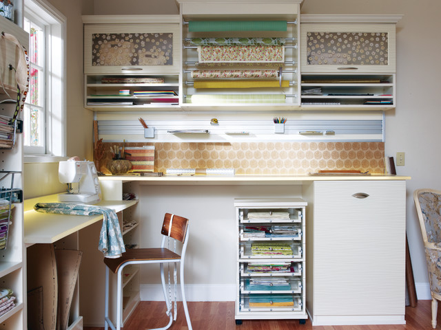 Rolling Cart with Drawers Home Office Contemporary with Beige Wall Craft Room