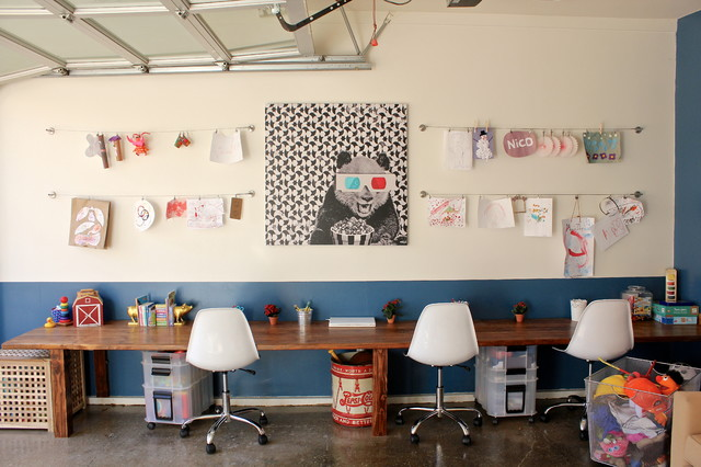 Rolling File Cabinet Kids Eclectic with Beige Wall Blue Wall