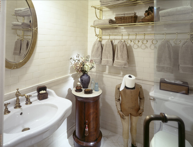 Rolling Garment Rack Bathroom Traditional with Brass Rack Oval Mirror