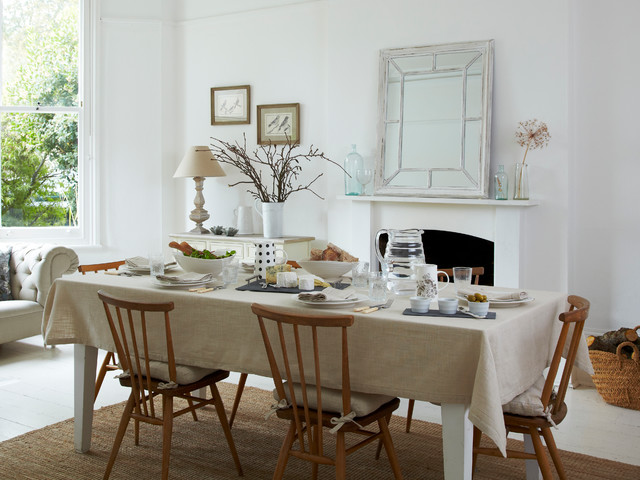 Round Tablecloth Dining Room Scandinavian with Beige Lining Tablecloth Beige