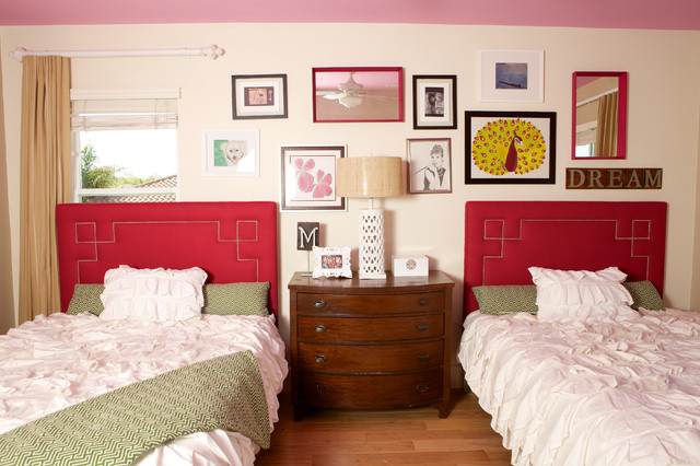 Ruched Comforter Bedroom Shabby Chic with Art Collage Bright Colors