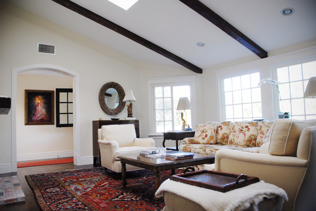 Rug Depot Living Room Traditional with Archway Dark Wood Exposed