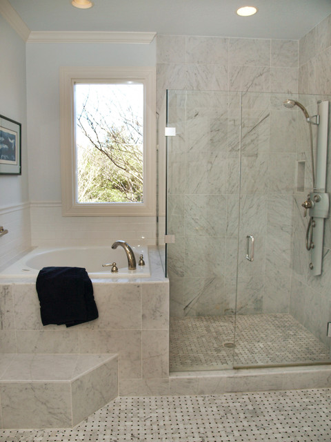 Safe Step Tub Price Bathroom Traditional with Basketweave Carrera Tile Ceiling