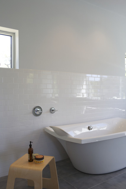 Sanded Grout Bathroom Modern with Bathroom Seating End Table