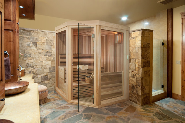 Sauna Kits Garage And Shed Traditional With Cable Railing