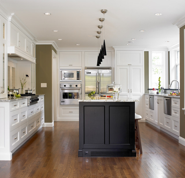 Sears Wall Ovens Kitchen Transitional with Breakfast Bar Ceiling Lighting