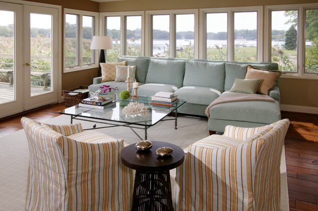 Sectional Slipcovers Living Room Beach with Blue Sofa Coastal Coral