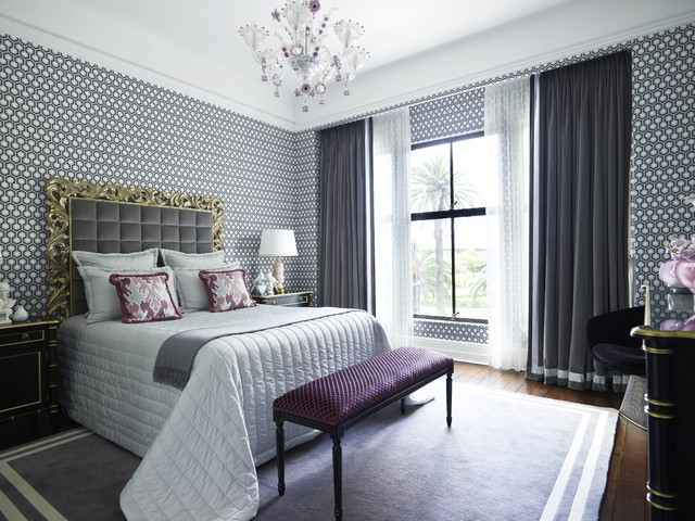 Shark Lift Away Professional Bedroom Contemporary with Area Rug Astor Apartment