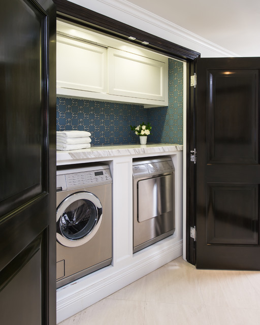 Shark Lift Away Professional Laundry Room Traditional with Beverly Hills Condo Calcutta