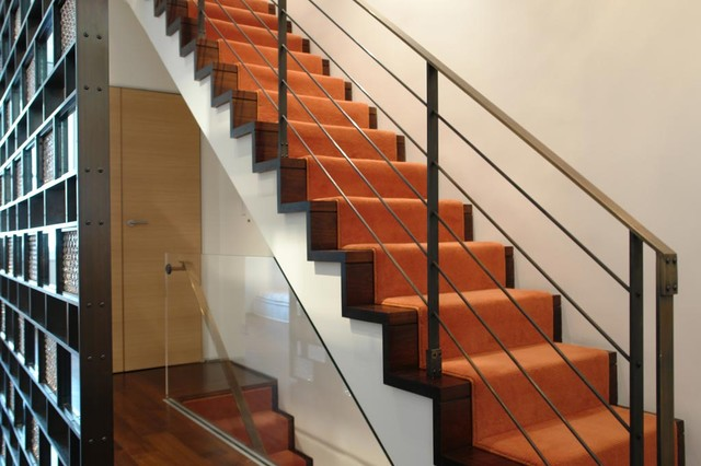 Shaw Carpet Reviews Staircase Contemporary with Axis Mundi Bronze Bronze